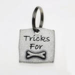 View Image 1 of Pewter Dog Collar Charm or Cat Collar Charm: Tricks For Bones