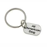 Pewter Pet Lover Keychain - All American Dog