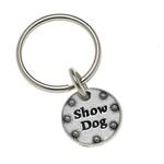 View Image 1 of Pewter Pet Lover Keychain - Show Dog