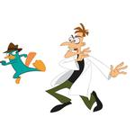 Phineas & Ferb Bedroom Decor - Agent P and Dr. Doofenshmirtz Giant Wall Decal