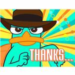 Phineas & Ferb Party Supplies - Postcard Thank You Notes