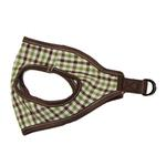 View Image 1 of Picnic Dog Harness by Gooby - Brown Checkered