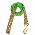 View Image 1 of Pink Palms Dog Leash by Up Country