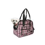 View Image 1 of Pink Plaid Deluxe Pet Tote