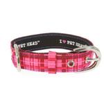 View Image 1 of Pink Plaid & Rhinestone Collar by Pet Head