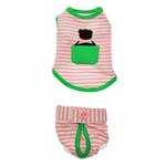 View Image 1 of Pink Striped Dog Pajama Set