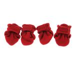 View Image 3 of Piper's Fleece Dog Booties - Red
