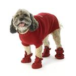 View Image 1 of Piper's Fleece Dog Booties - Red