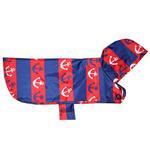 View Image 1 of Pitter Patter Packable Dog Rain Poncho - Nautical