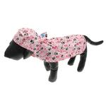 View Image 1 of Pitter Patter Packable Dog Rain Poncho - Pink