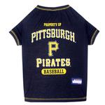 Pittsburgh Pirates Dog T-Shirt - Black