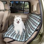 View Image 1 of Plaid Car Seat Cover - Blue