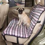 View Image 1 of Plaid Car Seat Cover - Pink