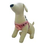 View Image 2 of Plaid Step-In Dog Harness - Pink