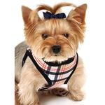 View Image 1 of Plaid Step-In Dog Harness - Tan