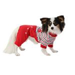 View Image 3 of Playschool Hooded Dog Jumpsuit by Pinkaholic - Red