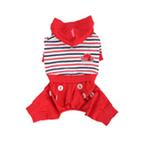 View Image 2 of Playschool Hooded Dog Jumpsuit by Pinkaholic - Red