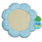 View Image 1 of Plush Flower Dog Bed - Blue