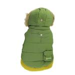 View Image 1 of Pocket Dog Parka by Dogo - Green