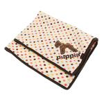 View Image 1 of Polka Dot Dog Blankie by Puppia - Brown
