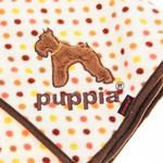 View Image 3 of Polka Dot Dog Blankie by Puppia - Brown