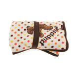 View Image 2 of Polka Dot Dog Blankie by Puppia - Brown