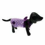View Image 4 of Polka Dot Dog Dress - Lilac