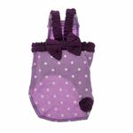 View Image 3 of Polka Dot Dog Dress - Lilac