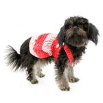View Image 1 of Polka Dot Dog Sundress by Klippo - Red and White