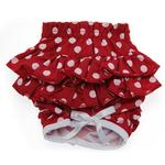Polka Dot Ruffled Dog Panties - Red