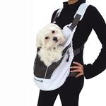 poochy pouch white dog carrier with same day shipping baxterboo. Black Bedroom Furniture Sets. Home Design Ideas