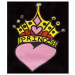 View Image 2 of Princess Crown Heart Dog Tank Top - Black