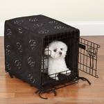 View Image 1 of ProSelect Pawprint Crate Cover and Bed Set - Black