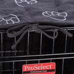 View Image 3 of ProSelect Pawprint Crate Cover and Bed Set - Black