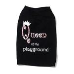 View Image 2 of Queen of the Playground Dog T-Shirt - Black