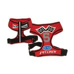 View Image 1 of Racing Team Pit Crew Dog Harness - Red