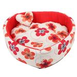 View Image 1 of Ramona Heart Dog Bed by Pinkaholic - Red