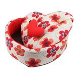 View Image 2 of Ramona Heart Dog Bed by Pinkaholic - Red