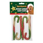View Image 1 of Ranch Rewards Tri-Color Munchy Candy Canes Dog Treats