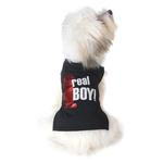 View Image 1 of Real Boy Dog T-Shirt - Black