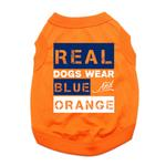 View Image 1 of Real Dogs Wear Blue and Orange Dog Shirt - Orange