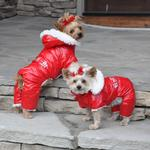 Ruffin It Snowsuit - Red