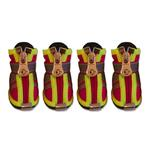 View Image 1 of Reflector Dog Boots - Fire Engine Red