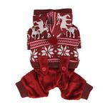 View Image 3 of Reindeer Dog Jumpsuit by Puppia - Wine