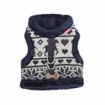 View Image 3 of Reindeer Pinka Dog Harness by Pinkaholic - Navy