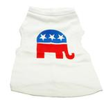 View Image 1 of Republican Party Dog Tank Top - White