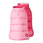 Reversible Bone Puffer Dog Jacket by fabdog® - Pink/Light Pink