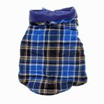 View Image 2 of Reversible Puffy Dog Vest - Blue Plaid