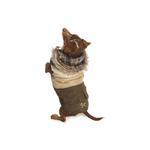 View Image 1 of Reversible Puffy Ski Coat by NY Dog - Brown