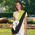 View Image 1 of Reversible Sling Dog Carrier - Green/Black